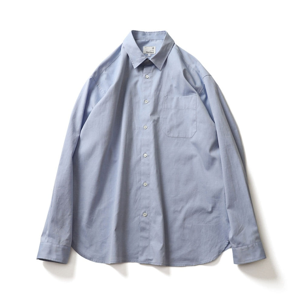 [Horlisun]  21SS Jane Silky Oxford Shirts Blue