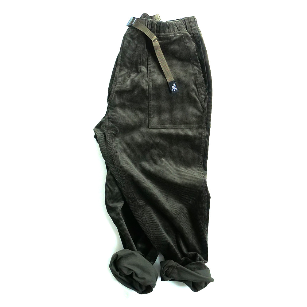 [Gramicci]  Corduroy Loose Tapered Pants Olive