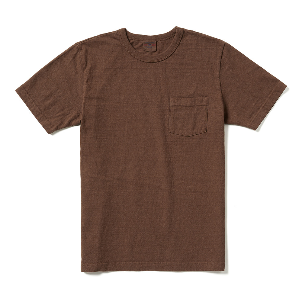 [Oriental United]  Loopwheel T-Shirt Brown