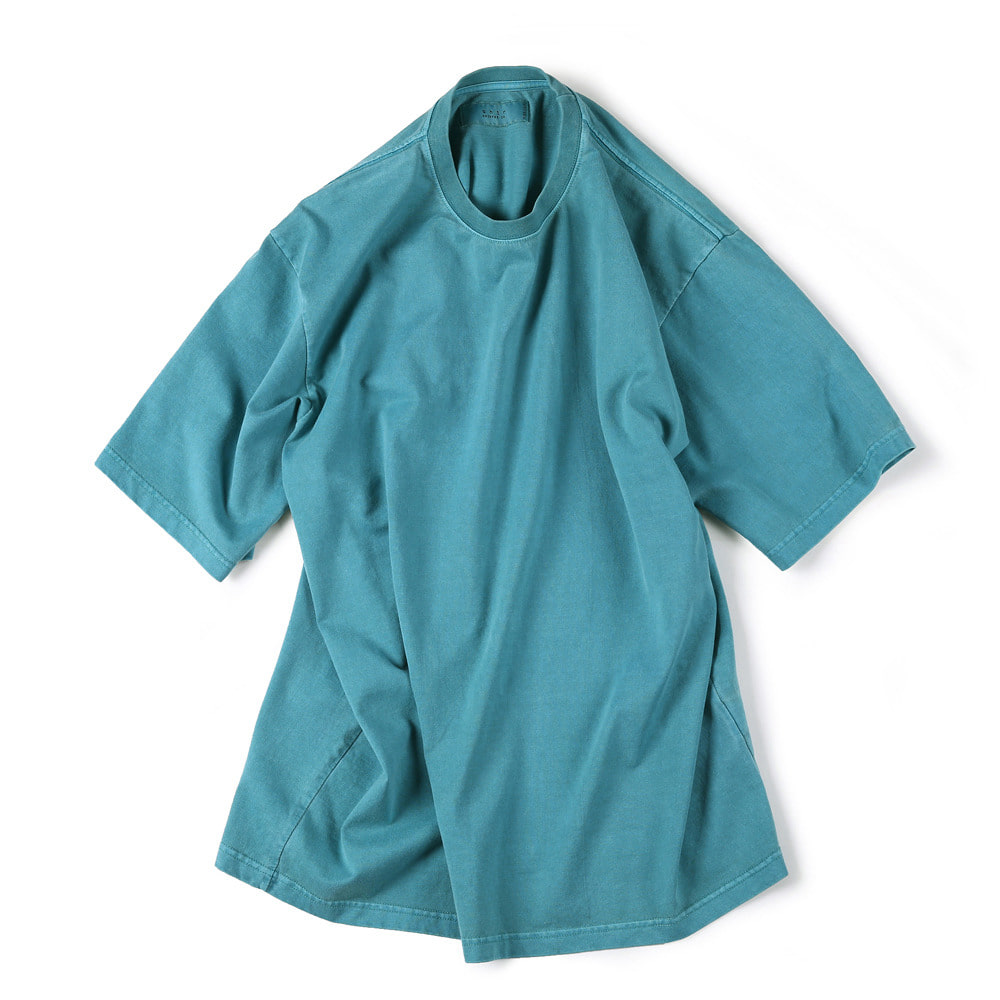 [Shirter]  Garments Dyed T-Shirts Blue Green   30% Season Off