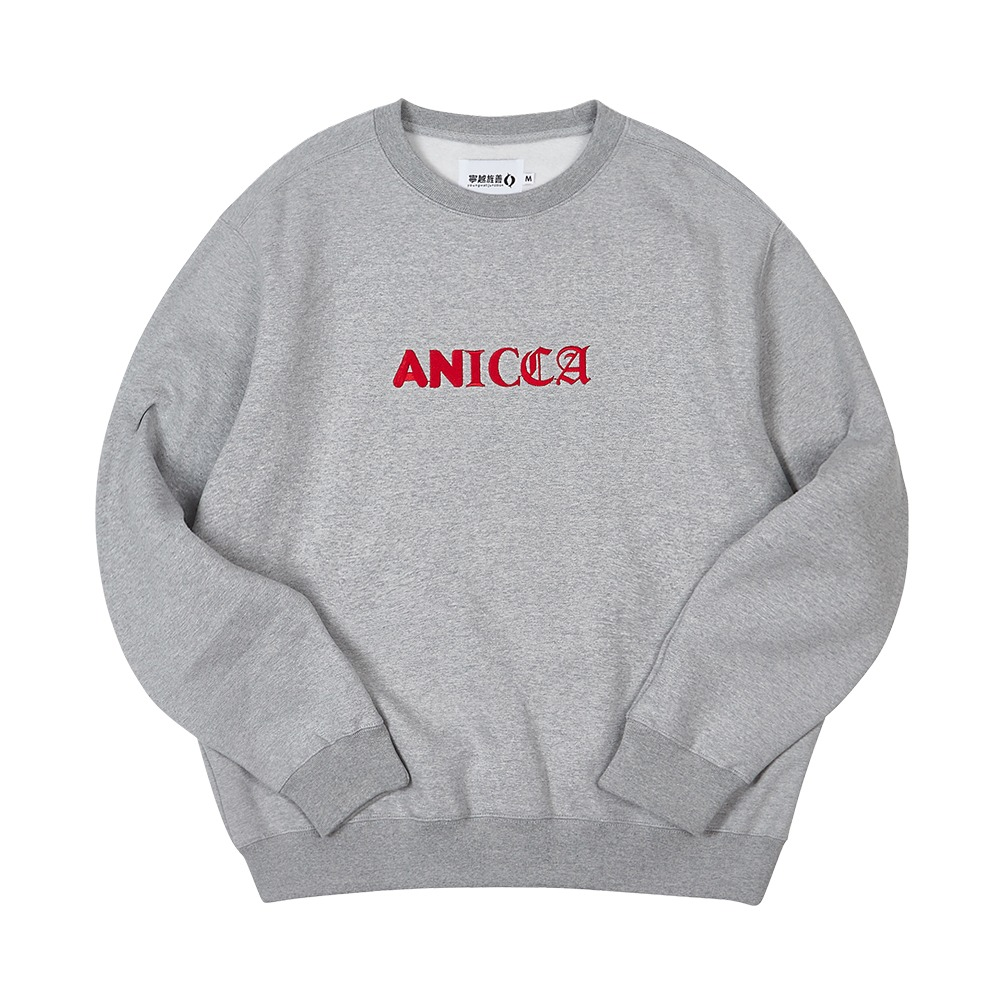 [Youngwall Junction]  3Type Anicca Crewneck Grey