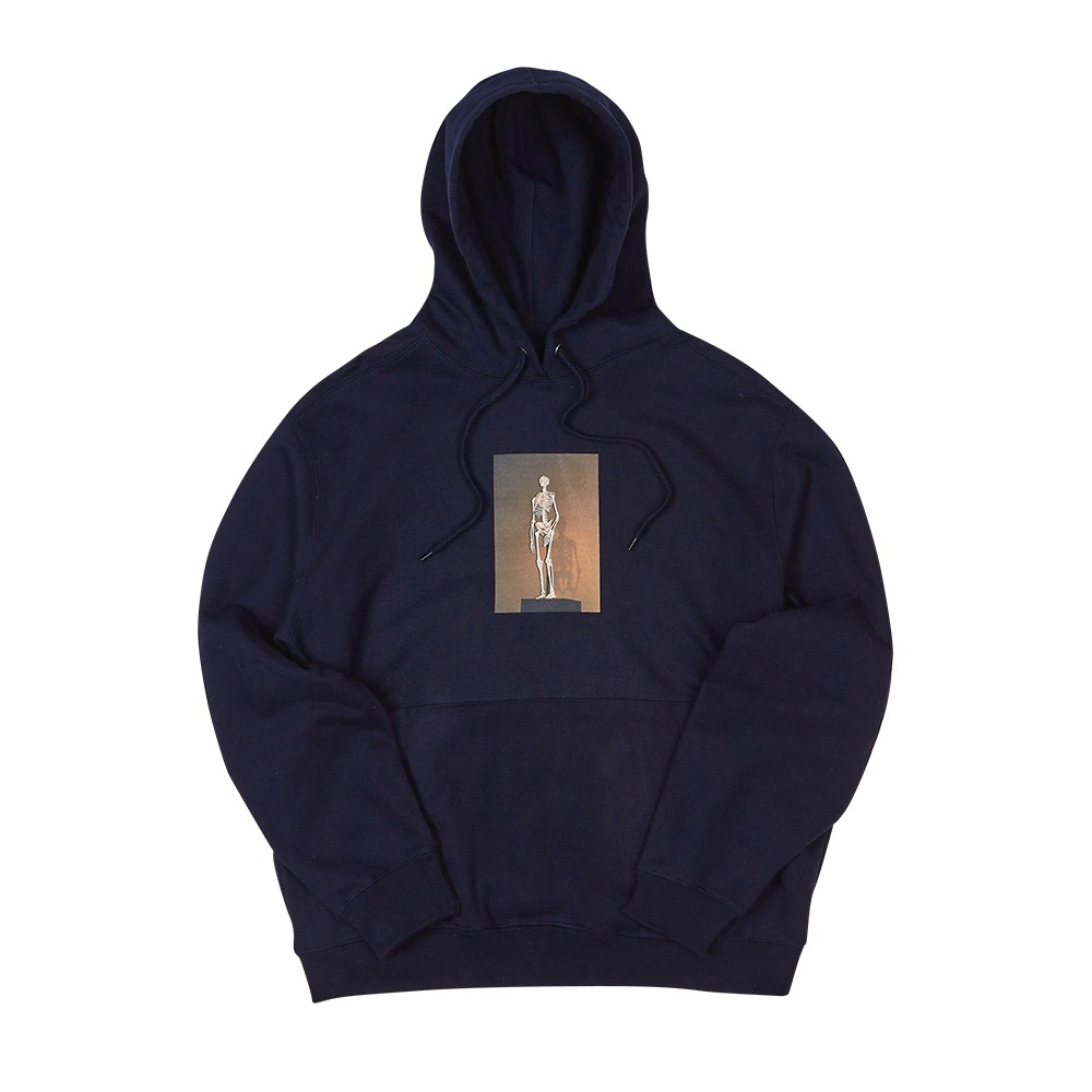[Youngwall Junction]  Skelett Hoodie Navy