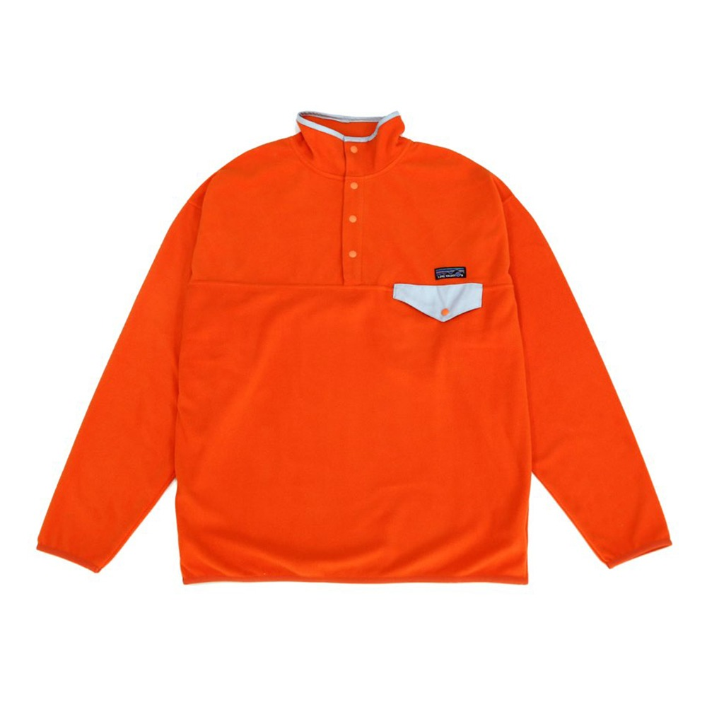 [Long Vacation]  90's Homeboy Fleece Snap-T Orange
