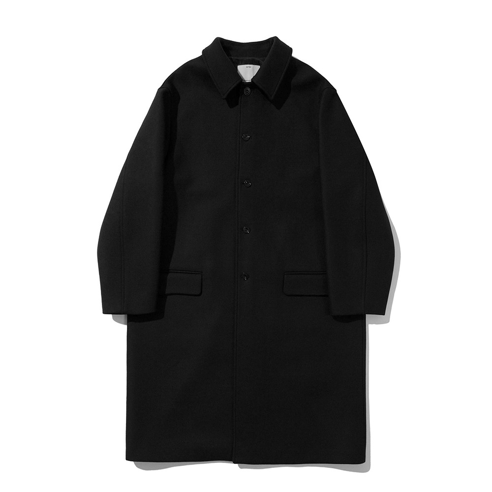 [Pottery]  Melton Wool Mac Coat Black