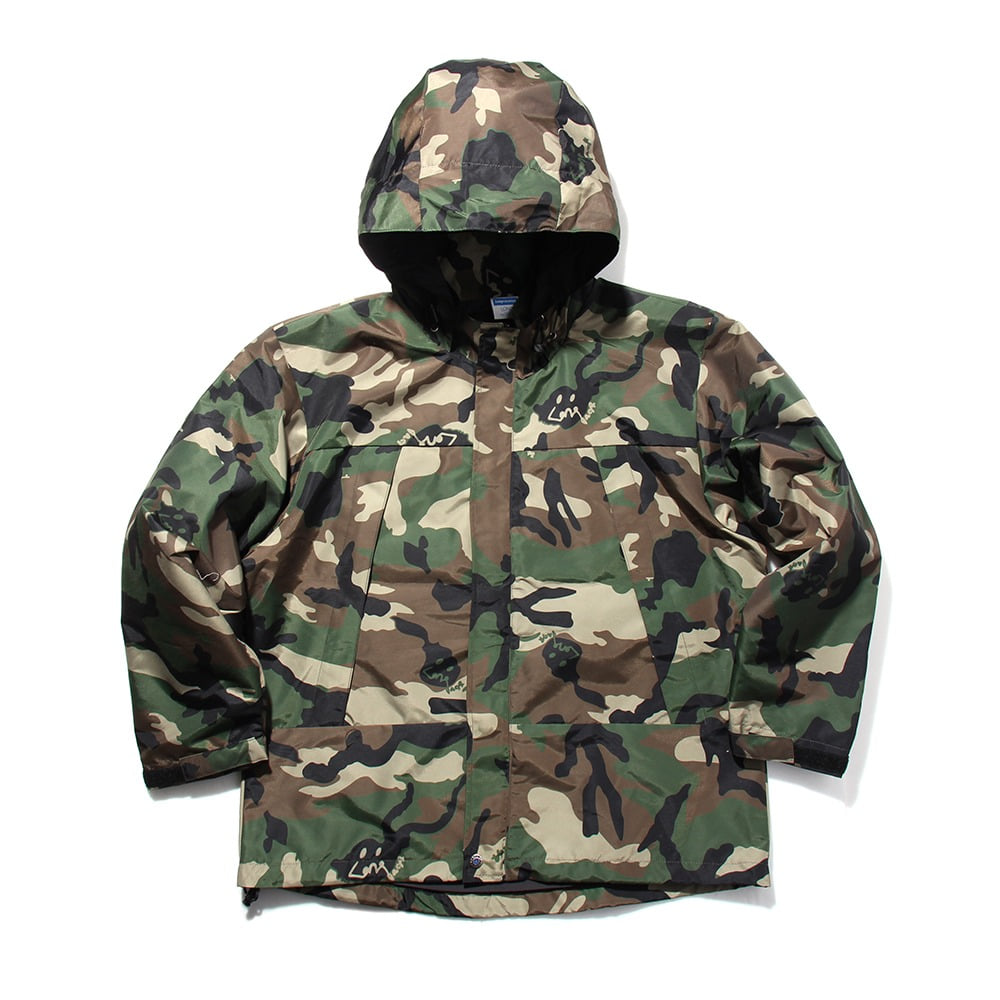 [Long Vacation]  Go Home City Camo Wind Parka Wood Land