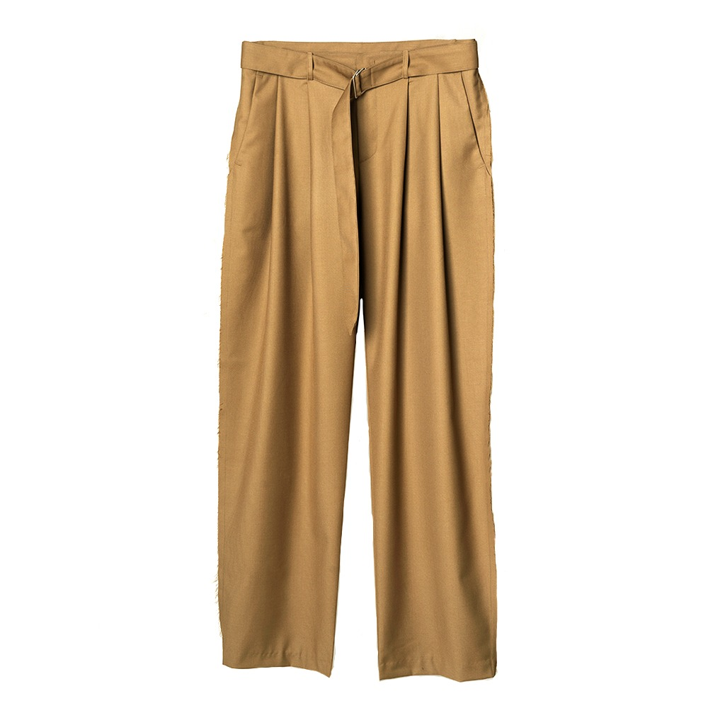 [Nought]  Side Seam Out Slacks Beige