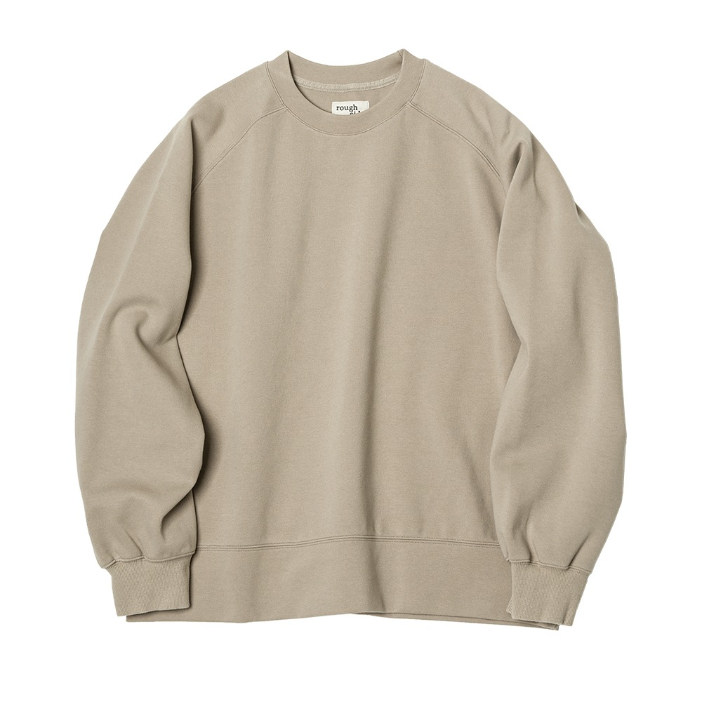 [Rough Side]  Raglan Sweat Shirt Beige