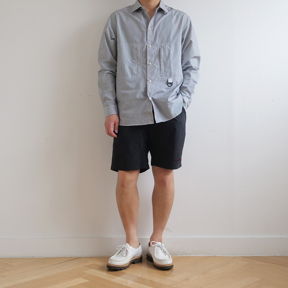[Cayl] Striped Hiker Shirts Black Stripe