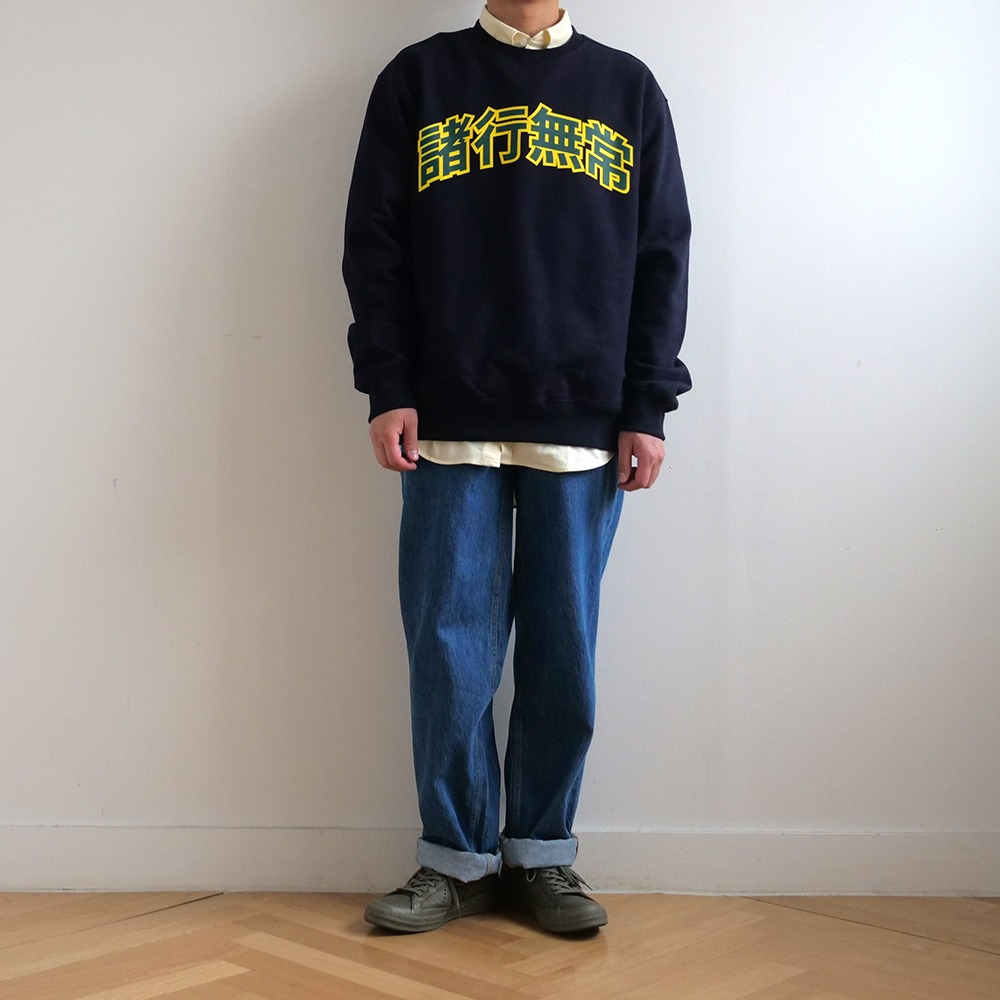 [Youngwall Junction]  College Crewneck Navy