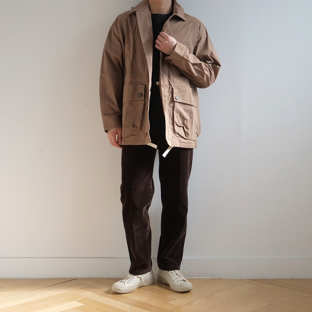 [Pottery] Corduroy Washed Tapered Pants Brown