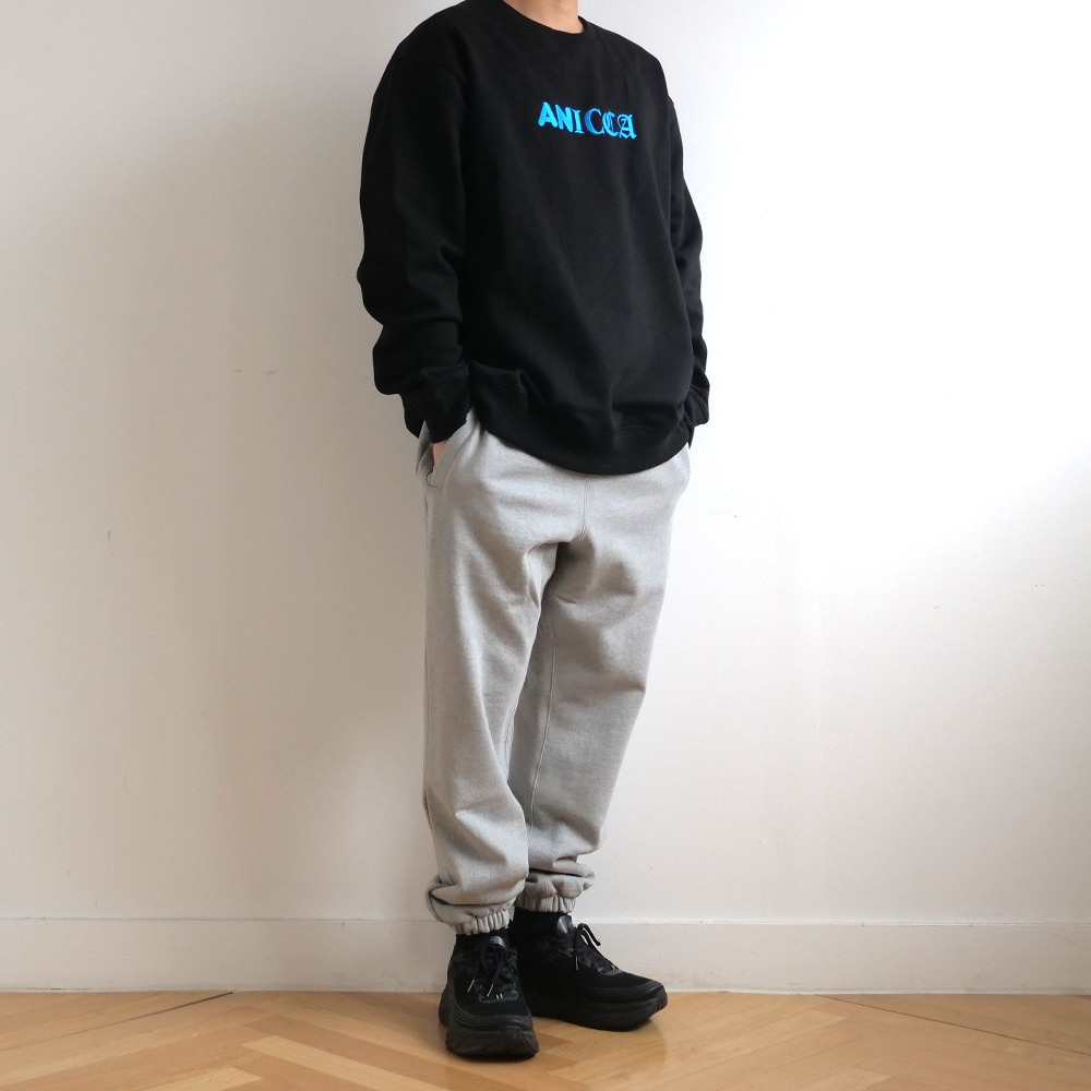 [Youngwall Junction]  3Type Anicca Crewneck Black