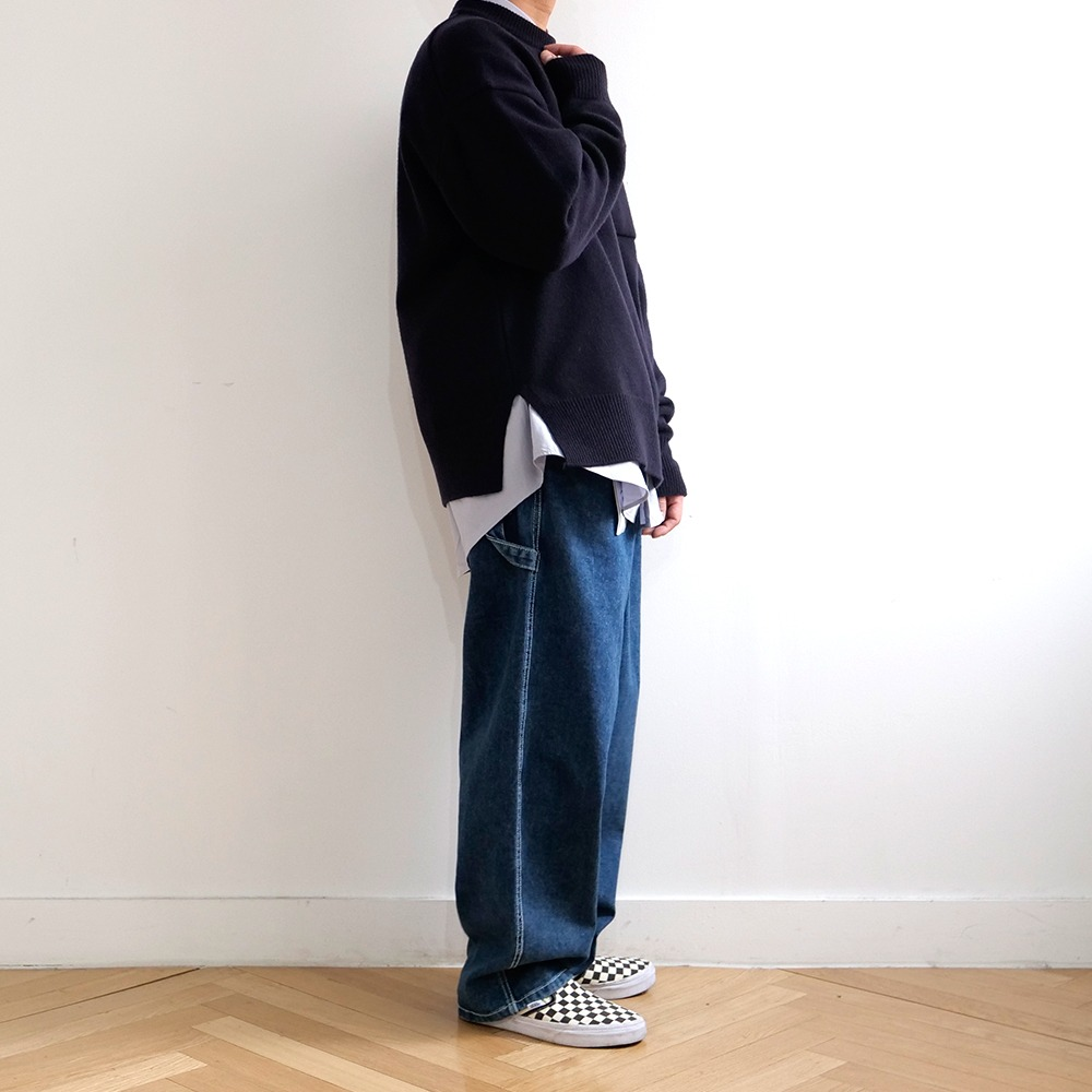 [Long Vacation]  Blue tab carpenter pants Le Grand Blue