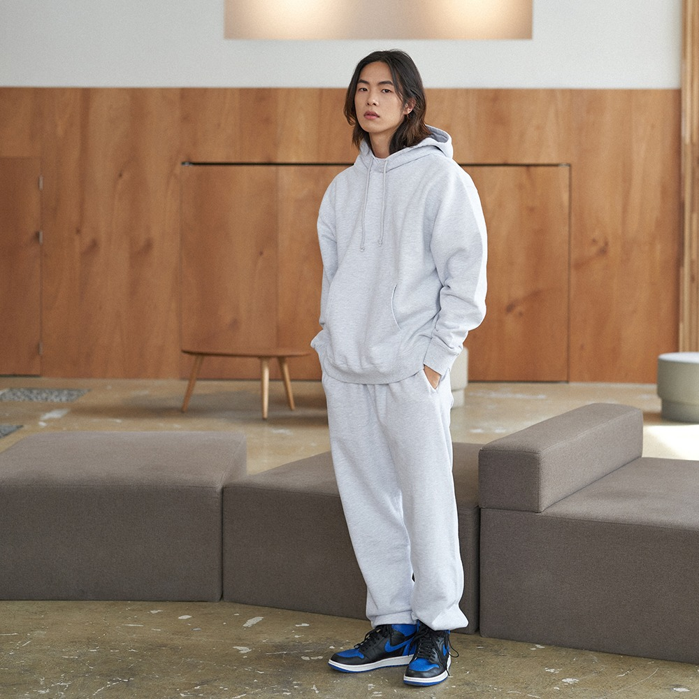 [Steady Every Wear]  Daily Hoody White Melange