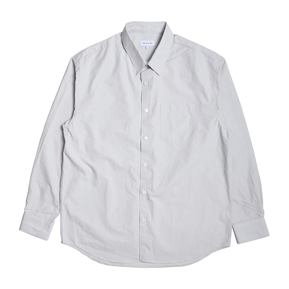 [Steady Every Wear]  Relaxed Daily Shirts Light Grey