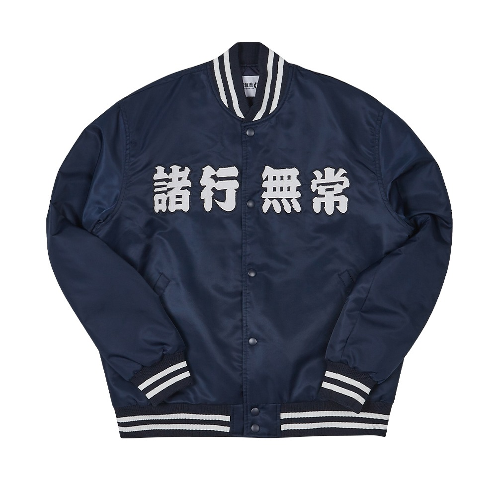 [Youngwall Junction]  Anicca Club Baseball Jacket Navy