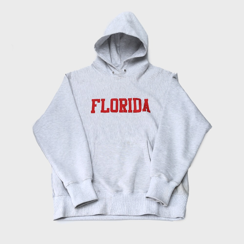 [Long Vacation]  Longvaca In Florida Hoodie Melange grey