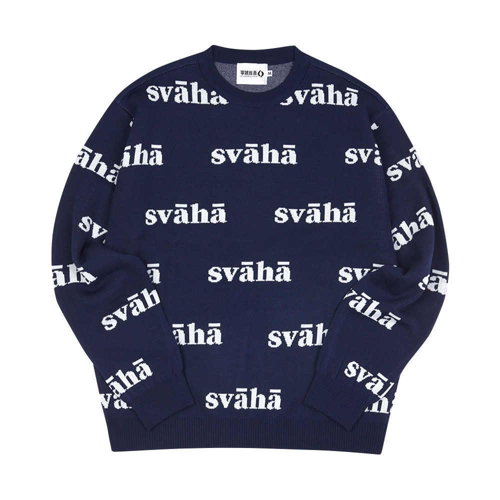 [Youngwall Junction]  Svaha Knit Navy