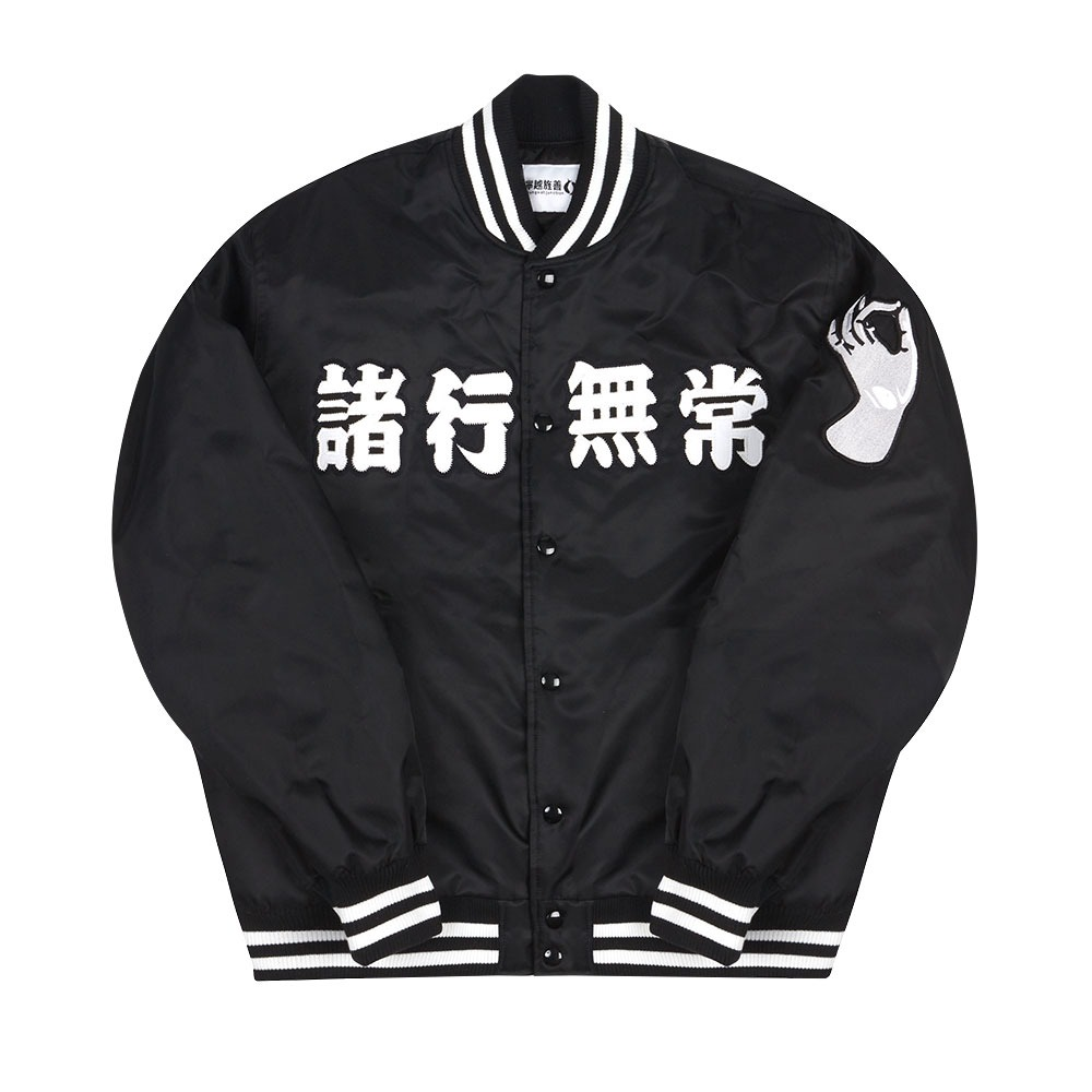 [Youngwall Junction]  Anicca Club Baseball Jacket Black 2021