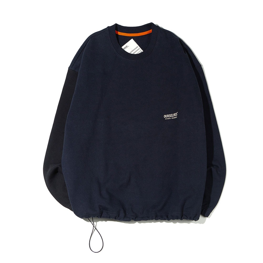 [Ourselves]  Logo Play Sweat Shirts Navy Black