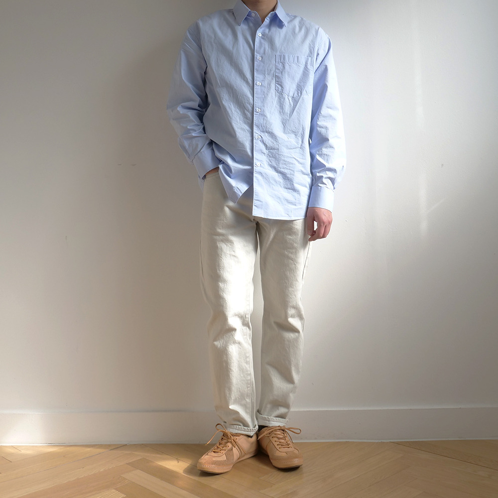 [Steady Every Wear]  Relaxed Daily Shirts Sky Blue