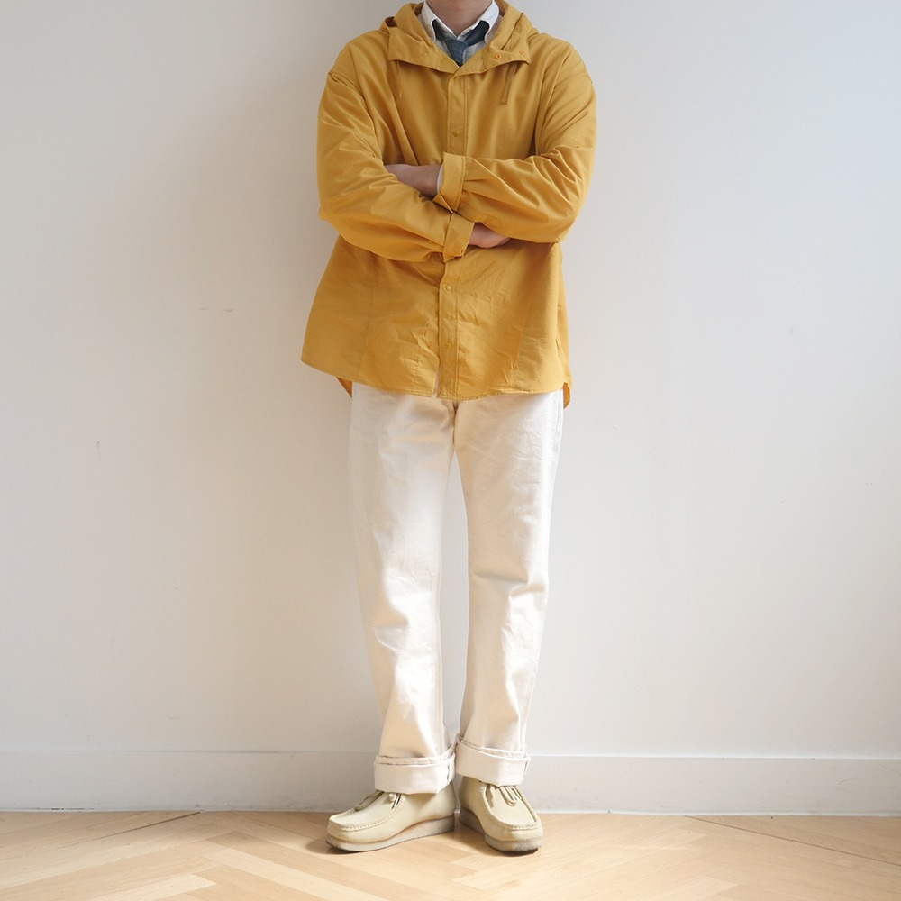 [Ourselves]  Nylon Dyed Comfort Shacket Yellow
