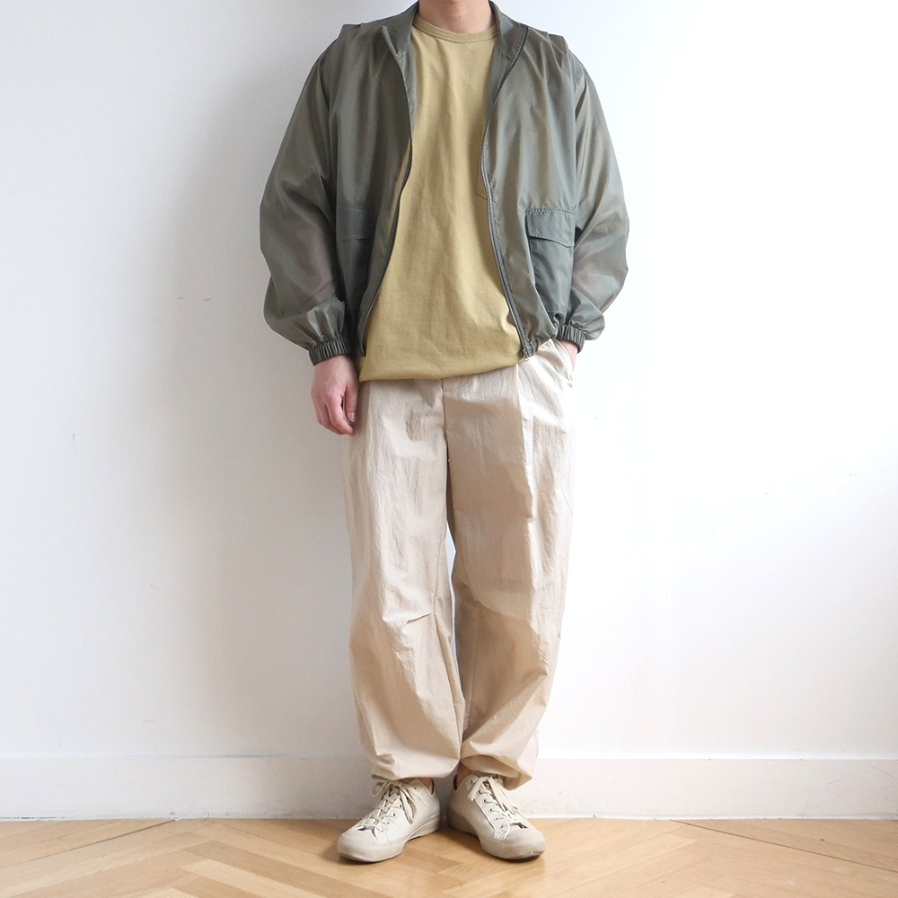 [Nought]  See Through Ripstop Jumper Khaki