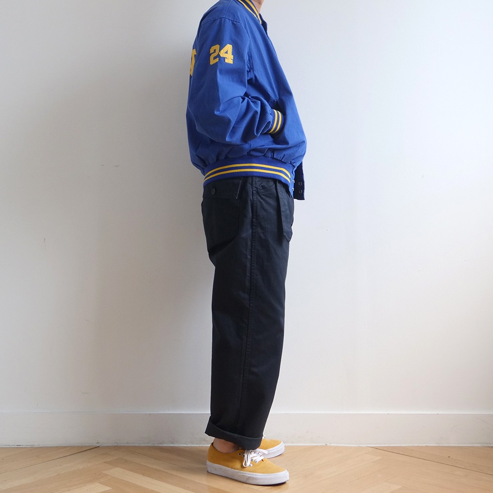 [Softur]  Belted Fatigue Pants Navy